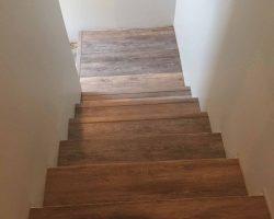 wood floor stairs